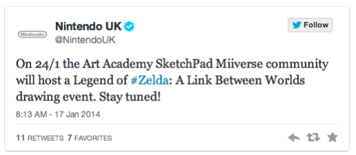 Evento de A Link between Worlds en Art Academy SketchPad (Reino Unido)