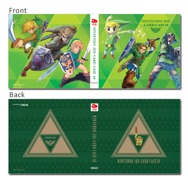 Game Card Case de The Legend of Zelda en Club Nintendo