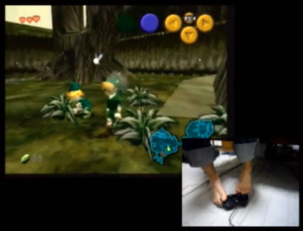 Se pasa Ocarina of Time… ¡con los pies!