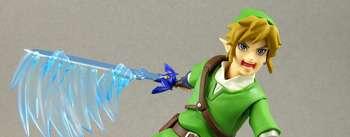 Hombre apuñalado con Espada Maestra de Zelda