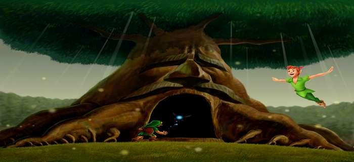 Todos los Parecidos Peter Pan y Zelda: País de Nunca Jamás y Bosque Kokiri