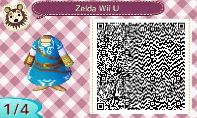 Diseño de Zelda Wii U para Animal Crossing: New Leaf