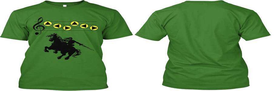 A la venta camiseta Zelda con la canción de Epona