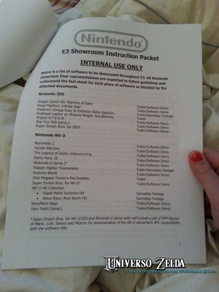 ¿Zelda Unbound King el nuevo nombre de Zelda para Wii U?