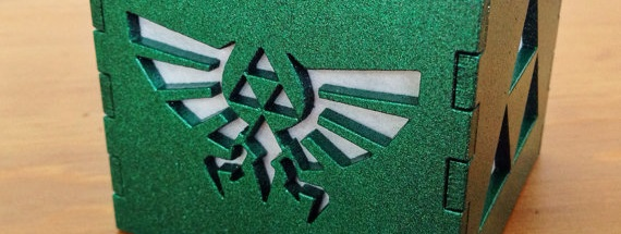 Nueva lámpara con motivos de Zelda desde BurntPixels