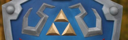 Replica del escudo de Hyrule a la venta en Etsy