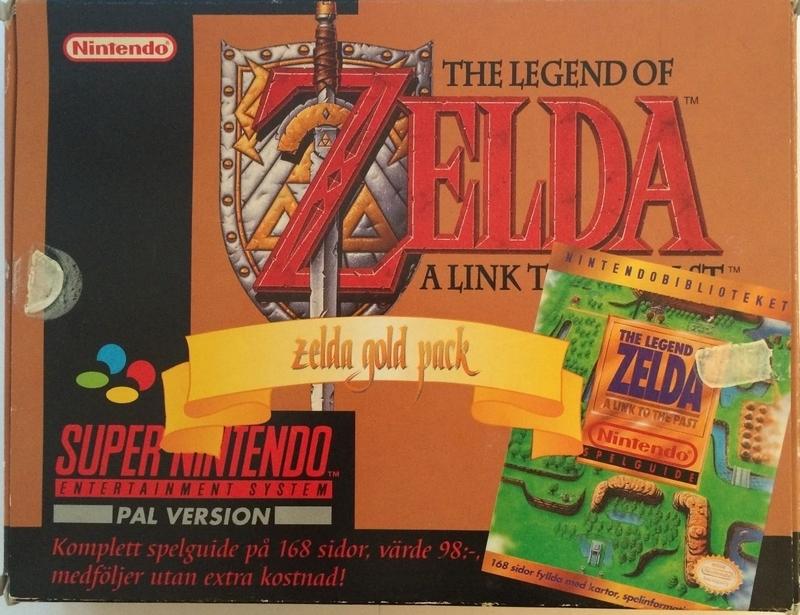 Rareza – A la venta A Link to the Past Zelda Gold Pack de SNES en eBay