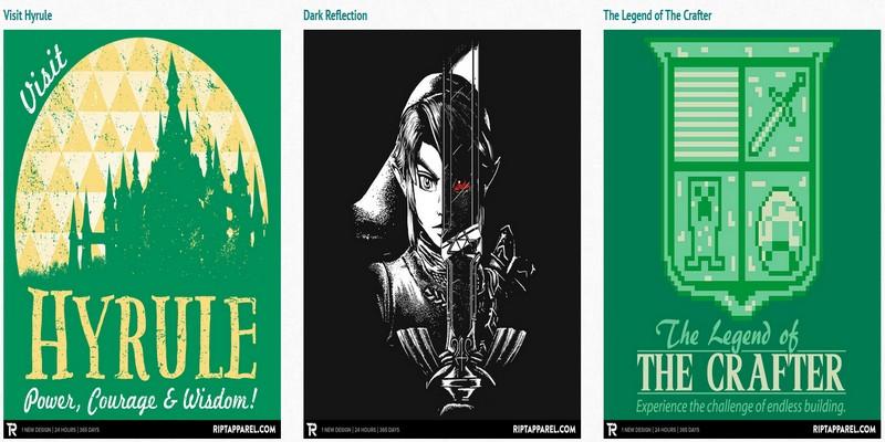 Camisetas Zelda Ript a la venta solo hoy por 10$