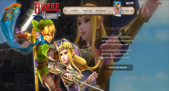 Abierta la web oficial de Hyrule Warriors en EEUU