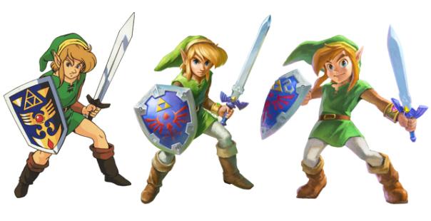 La evolución visual de Link a lo largo de los años