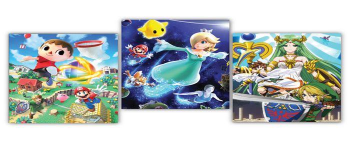 Set de Póster Super Smash Bros U en el Catálogo de Estrellas de Nintendo USA