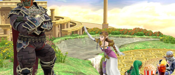 Cambios en los atributos de los personajes de Zelda en Super Smash Bros