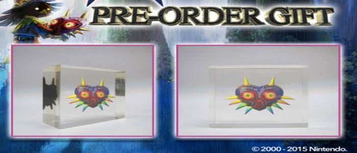 Pisapapeles de regalo por reservar Zelda Majora's Mask 3D en Game UK