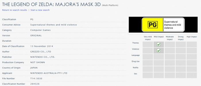 Grezzo confirma oficialmente que trabaja en Zelda Majora's Mask 3D