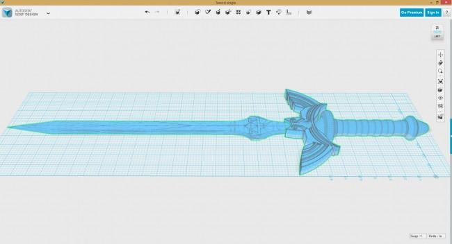Impresión en 3D de la Espada Maestra