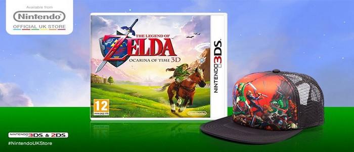 Si compras Zelda Ocarina of Time 3D en UK te llevas una gorra