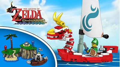 El set de Lego de Wind Waker gana popularidad en Lego Ideas