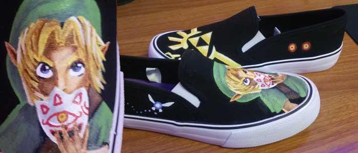Zapatos con diseño de Majora's Mask