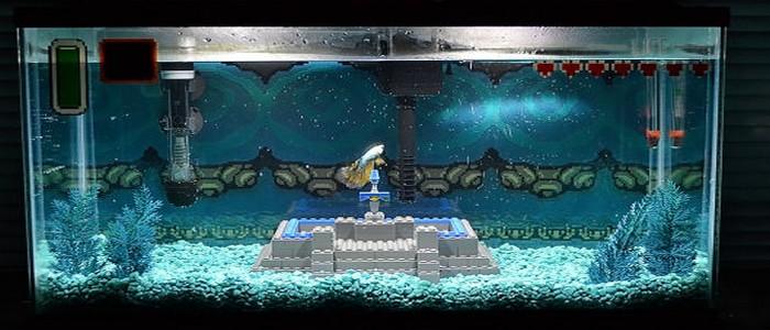 Pecera decorada a lo The Legend of Zelda hecha… ¡con Lego!
