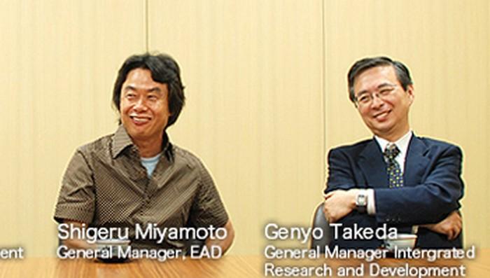 Miyamoto y Takeda, temporalmente al mando de Nintendo tras la muerte de Iwata