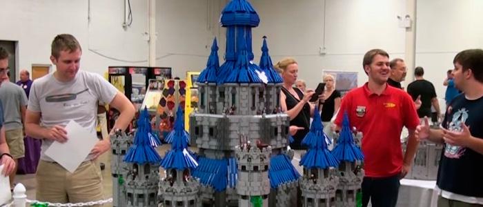 Castillo de Hyrule hecho con LEGO