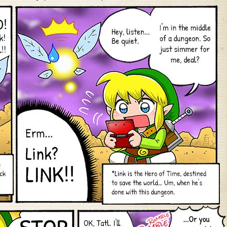Nintendo publica un original webcomic de Zelda