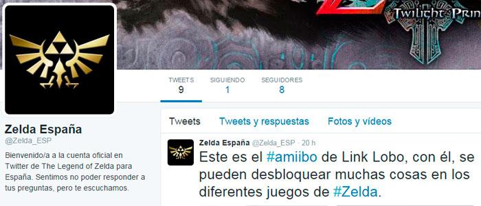 Twitter oficial de Zelda España