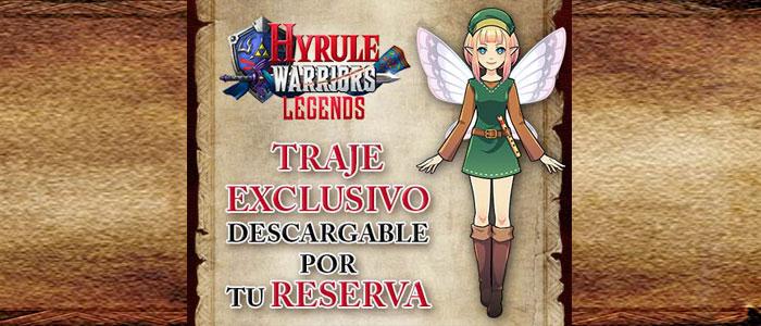 Traje exclusivo al reservar Hyrule Warriors Legends