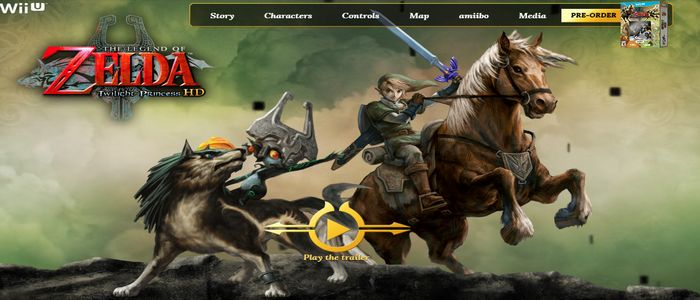 Disponible web oficial en USA de Zelda Twilight Princess HD