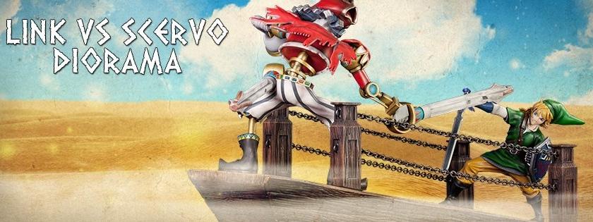 Pre-reserva el diorama Link vs. Scervo desde First4Figures