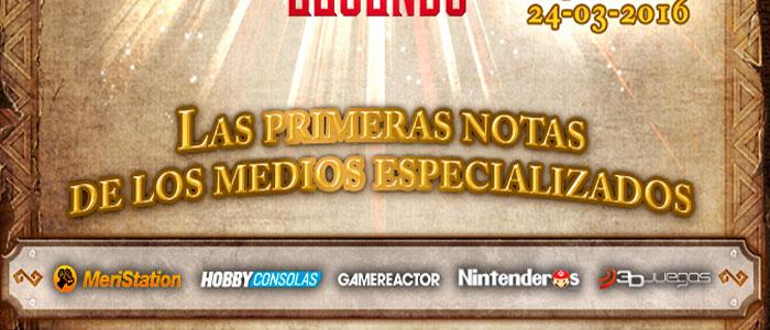 La prensa especializada española puntúa Hyrule Warriors Legends