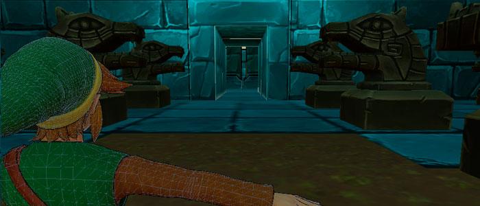 Primera Mazmorra de Zelda en 3D