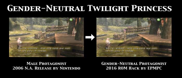FanMods que convierte varios juegos Zelda en unos de género neutro