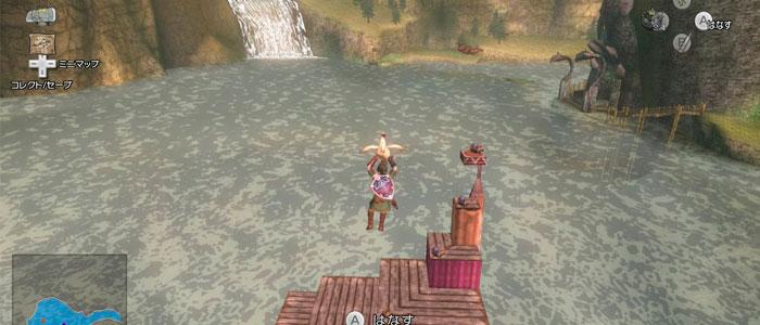 Link sobrevuela el lago Hylia en Twilight Princess