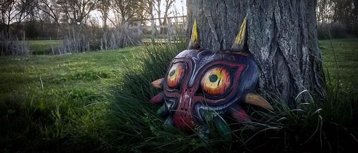 Máscara de Majora pintada a mano por Øken Cosplay