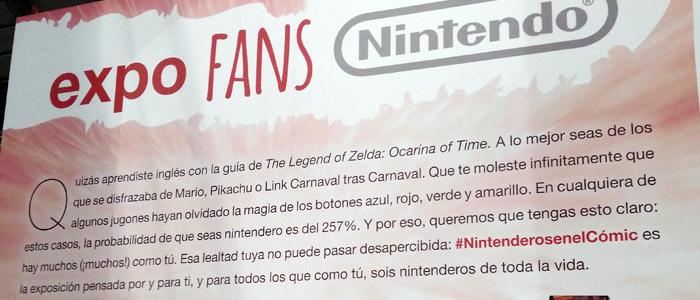 Exposición Nintendo en el Salón del Cómic de Barcelona