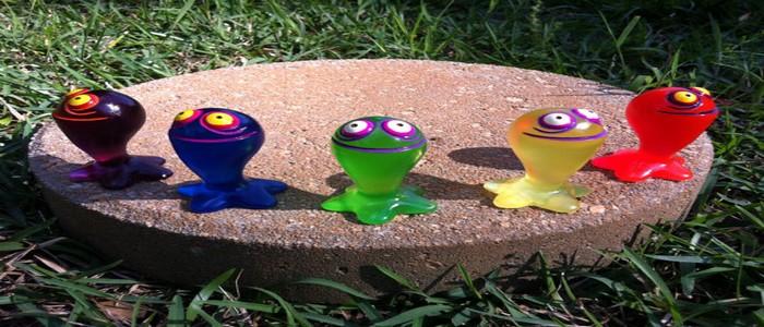 Figuras ChuChu de The Wind Waker hechas de resina y a mano