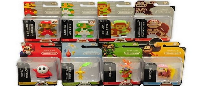 Link en varios colores – Figuras de 8 bits de World of Nintendo