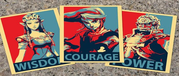 Carteles de propaganda política inspirados en The Legend of Zelda