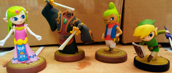 Amiibos customizados de The Wind Waker
