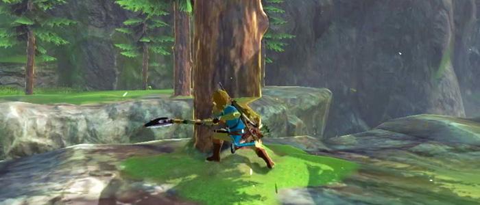 Nintendo muestra a Link talando en Breath of the Wild