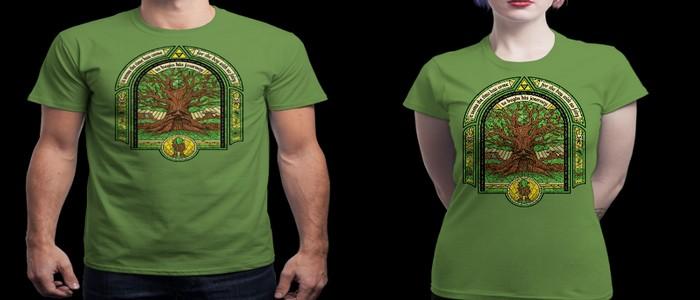 Camiseta con la imagen de El Árbol Deku a la venta en Qwertee por 10€