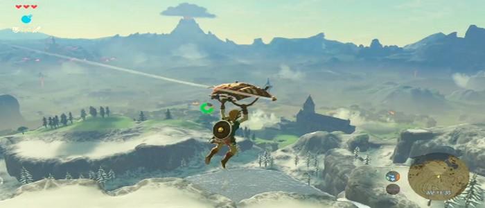 Link se muestra con su parapente en el último vídeo de Breath of the Wild