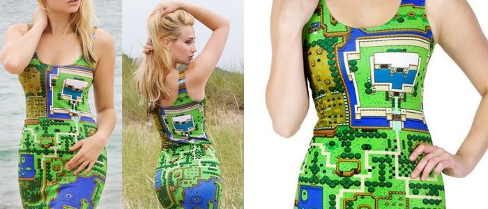 Vestido para ellas inspirado en el mapa de Link's Awakening