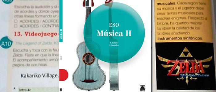 La Música de Zelda en un libro de Secundaria