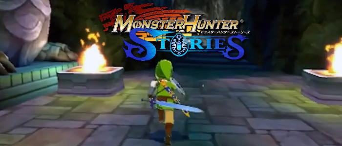 Link, Epona y Skull Kid en Monster Hunter Stories
