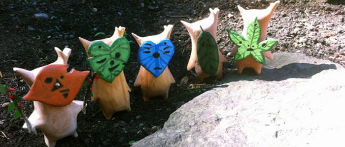 Estatuas de madera de los Kologs