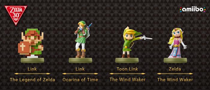 Los nuevos amiibo de la serie Zelda al detalle