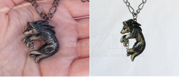 Colgante de WolfLink de Twilight Princess hecho de forma artesanal