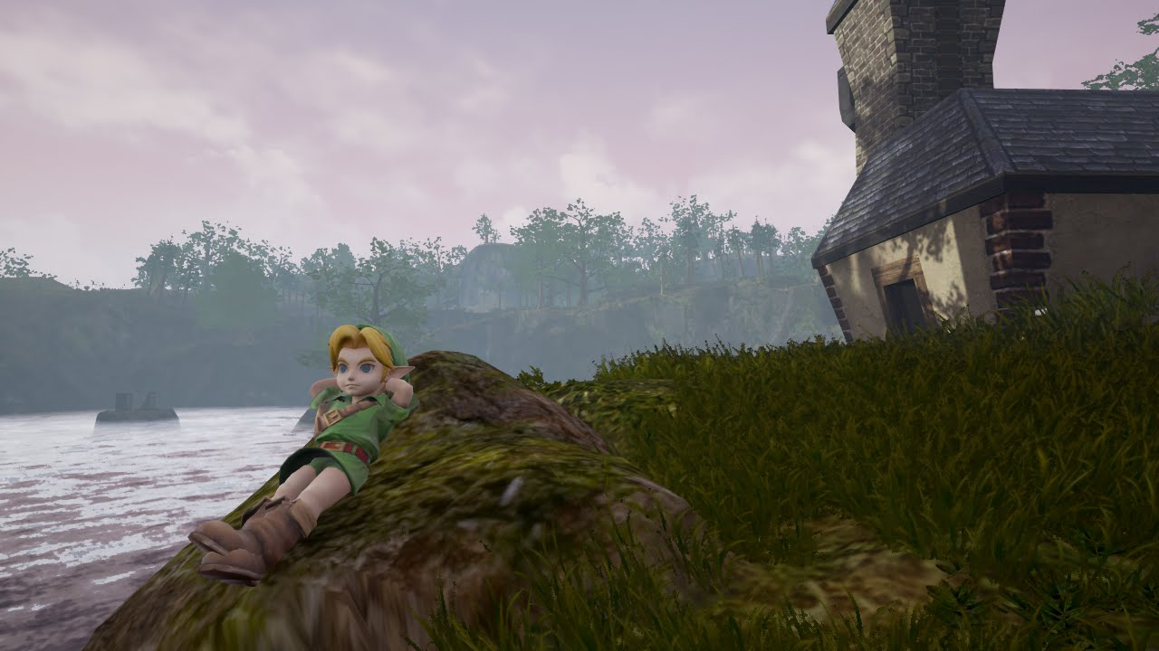 Lago de Hylia de Ocarina of Time en Unreal Engine 4